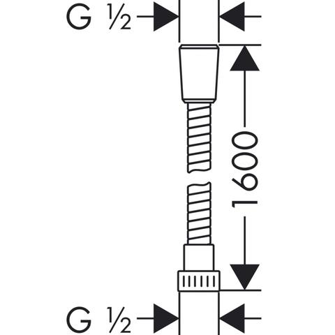 Hansgrohe Metaflex doucheslang 160 cm. chroom