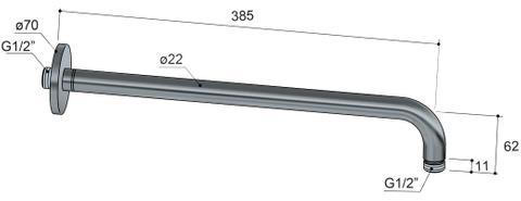 Hotbath Cobber IBS 24 inbouw doucheset - mat zwart - met ronde 3 standen handdouche - 30cm hoofddouche - met wandarm - glijstang met uitlaat