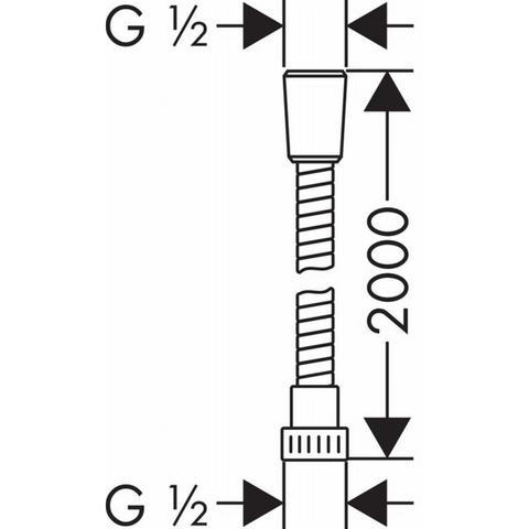Hansgrohe Metaflex doucheslang 200 cm. chroom