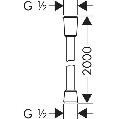 Hansgrohe Isiflex doucheslang 200 cm. chroom