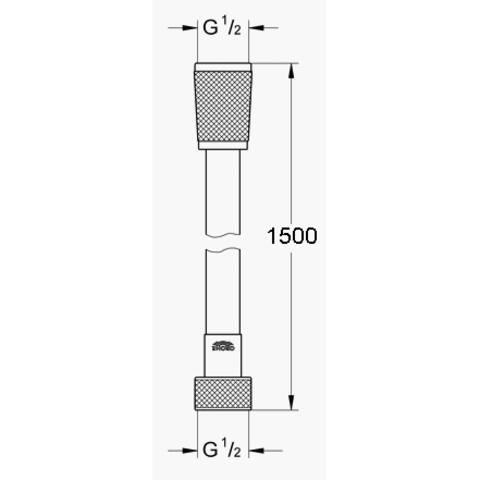 Grohe Silverflex doucheslang 150 cm. chroom