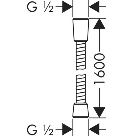 Hansgrohe Sensoflex doucheslang 160 cm. chroom
