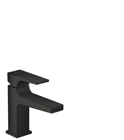 Hansgrohe Metropol fonteinkraan met clickwaste mat zwart