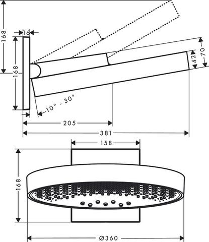 Hansgrohe Rainfinity powderrain hoofddouche met douchearm 36cm chroom