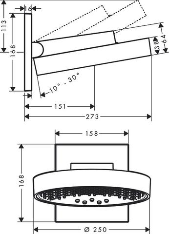 Hansgrohe Rainfinity powderrain hoofddouche met douchearm 25cm mat wit