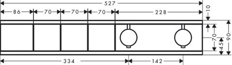 Hansgrohe Rainselect afdekset thermostaat 3 functies mat wit