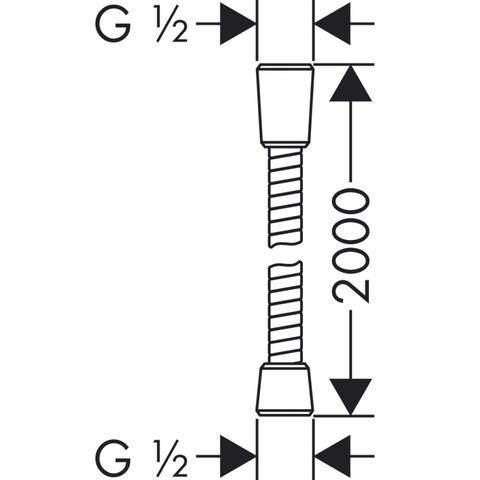 Hansgrohe Sensoflex doucheslang 200 cm. chroom