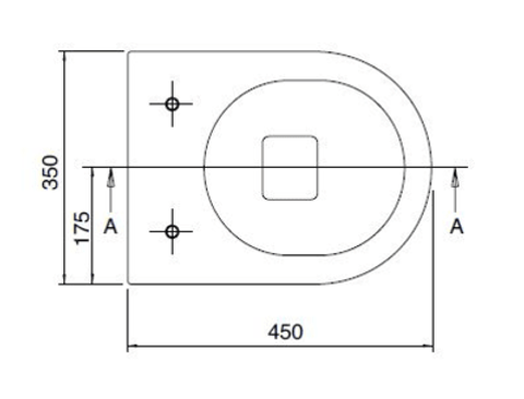 Blinq Kuma hangtoilet verkort 45x35cm zonder spoelrand met SlimSeat softclosing quickrelease