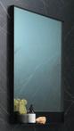 Ink SP14 spiegel in zwart kader met planchet mat zwart 80x10x80cm