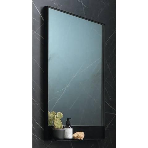 Ink SP14 spiegel in zwart kader met planchet mat zwart 100x10x80cm