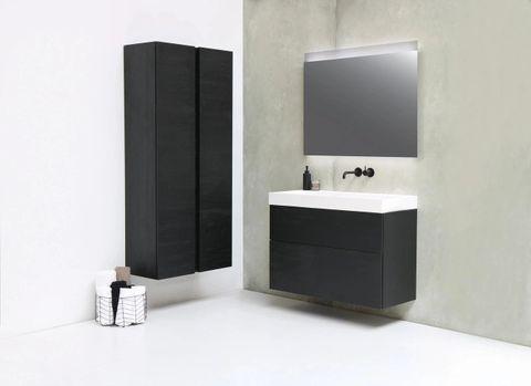 Ink spiegel SP11 rookglas 60 x 80 cm met indirecte LED verlichting onder en boven, gematteerde bovenkant en sensorschakelaar