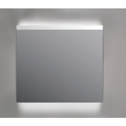 Ink spiegel SP11 rookglas 70 x 80 cm met indirecte LED verlichting onder en boven, gematteerde bovenkant en sensorschakelaar