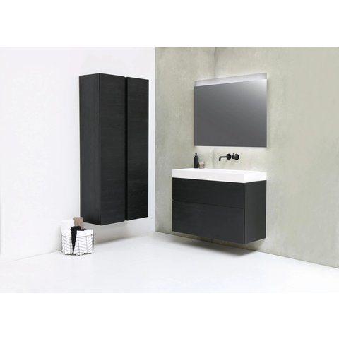 Ink spiegel SP11 rookglas 80 x 80 cm met indirecte LED verlichting onder en boven, gematteerde bovenkant en sensorschakelaar