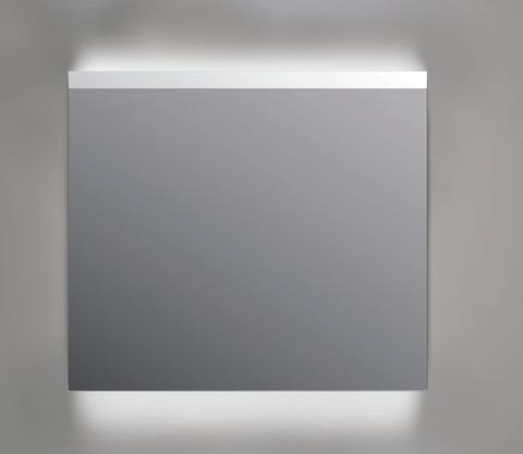 Ink spiegel SP11 rookglas 90 x 80 cm met indirecte LED verlichting onder en boven, gematteerde bovenkant en sensorschakelaar
