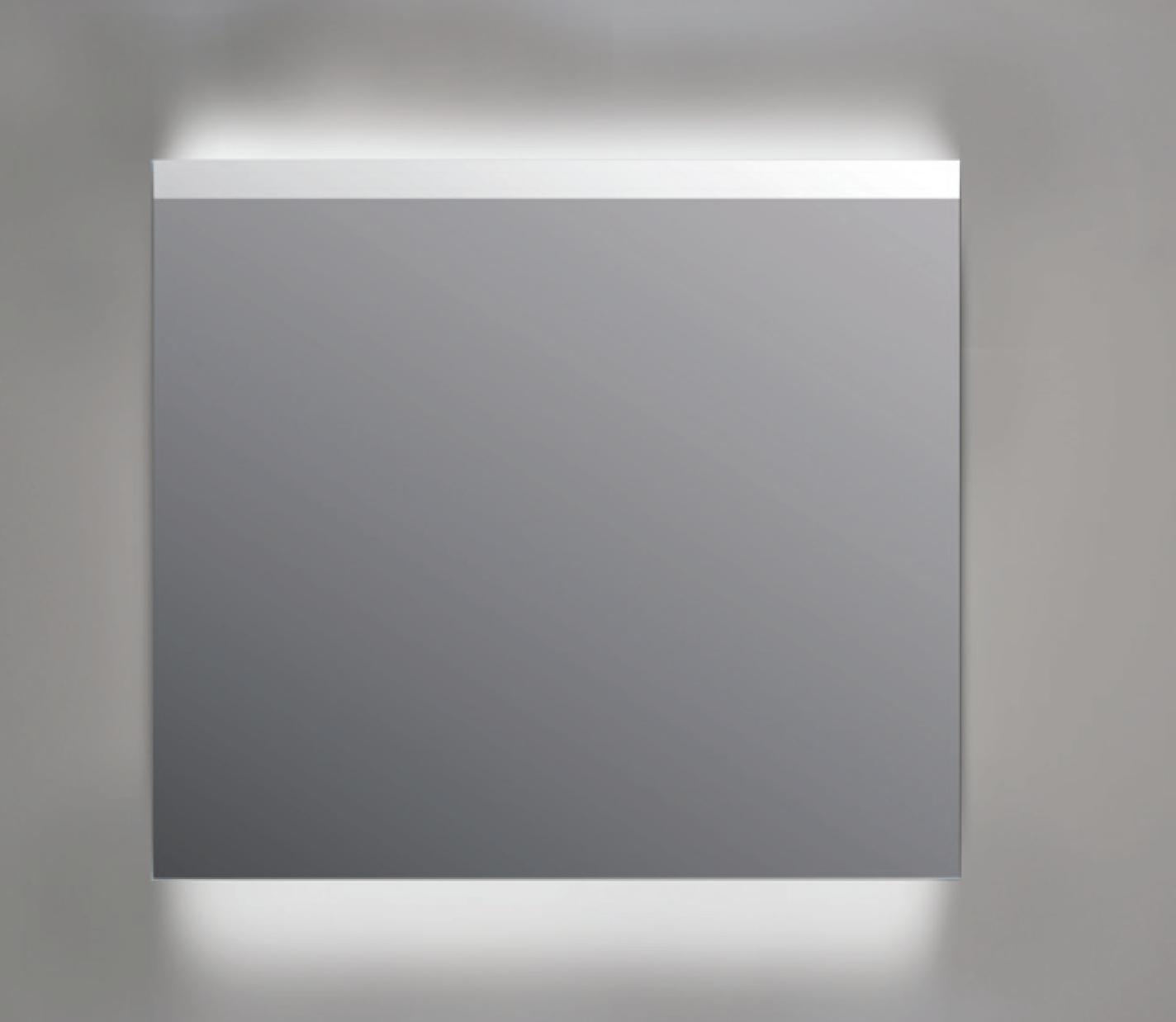 Ink spiegel SP11 rookglas 100 x 80 cm met indirecte LED verlichting onder en boven, gematteerde bovenkant en sensorschakelaar