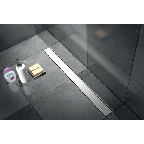 Brauer douchegoot 100cm - met vloerflens - zero/tegelinlegrooster (omkeerbaar)