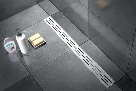 Brauer douchegoot 110cm - met vloerflens - sleufrooster