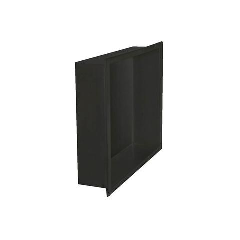 Bewonen inbouw nis 30x30cm mat zwart