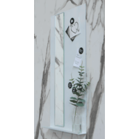 Ink Note fonteinplanchet glans wit 36x72cm - met spiegel helder glas