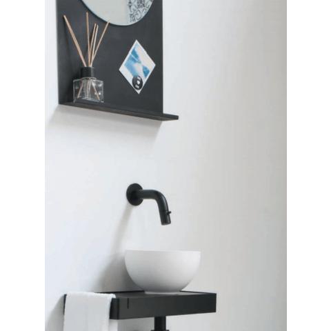 Ink Note fonteinplanchet mat zwart 36x72cm - met spiegel helder glas