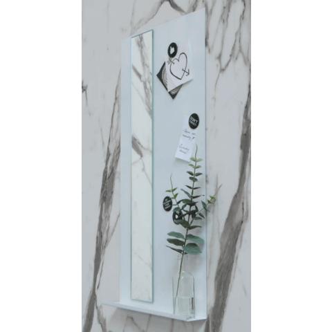 Ink Note fonteinplanchet glans wit 36x72cm - met spiegel rookglas