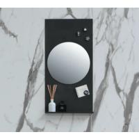 Ink Note fonteinplanchet mat zwart 36x72cm - met ronde spiegel