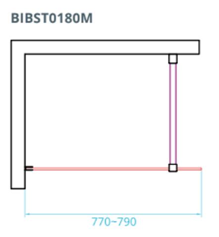 Bewonen Wilco ST01 inloopdouche 80cm met RVS beslag