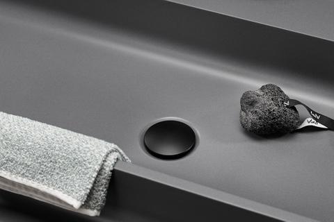 """vtwonen baden Curve wastafelplug 1 1/4"""" voor overloop charcoal"""