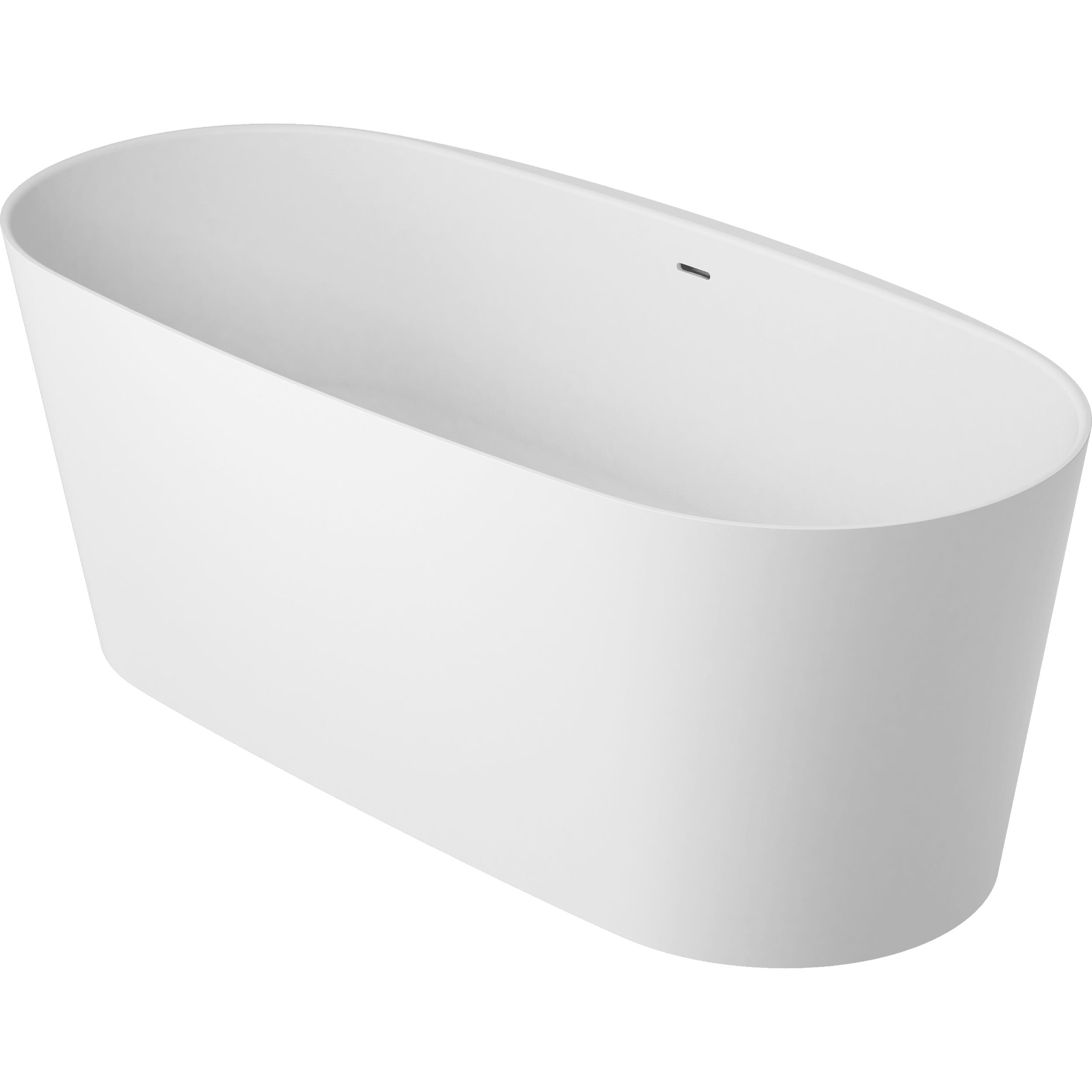 vtwonen baden Tub vrijstaand bad ovaal 165 x 72 cm. powder white