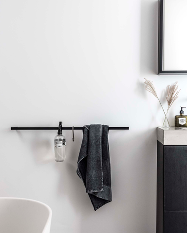 vtwonen baden Rail handdoekrek 90 cm. black