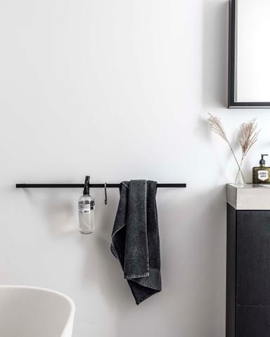 vtwonen baden Rail handdoekrek 60 cm. black