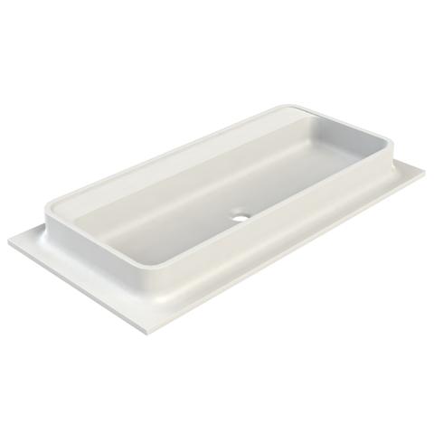 vtwonen baden Shell meubelwastafel 100x50 cm. z/kraangat powder white