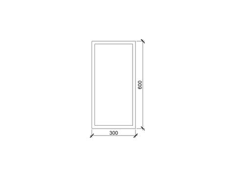 vtwonen baden Stock spiegelkast rechts 30 x 60 cm. black