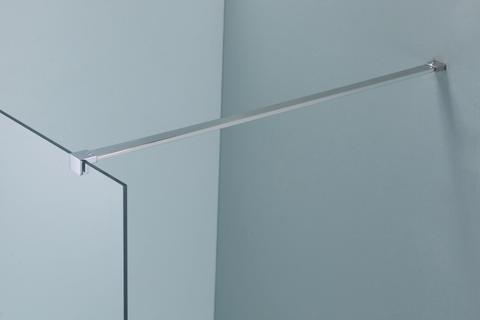 vtwonen baden Screen stabilisatiestang 120 cm. chroom hoogglans