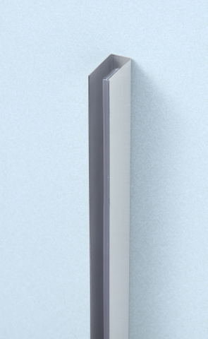 vtwonen baden Screen wandprofiel 200 cm. geborsteld