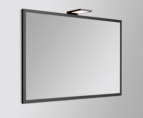 vtwonen baden Goodmorning spiegel 60 x 60 cm - op zwart kader