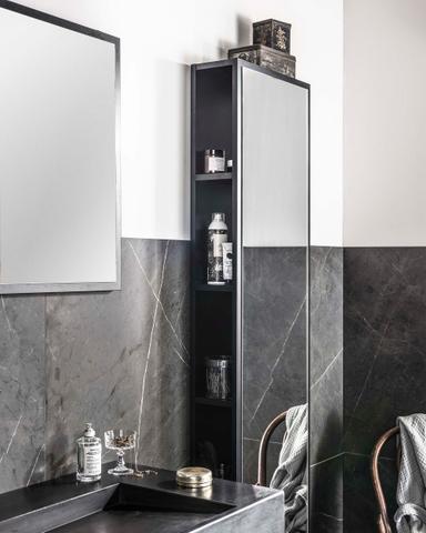 vtwonen baden Goodmorning spiegel met lijst 45 x 60 cm. black