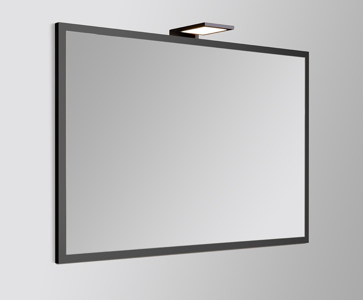 Spiegel Met Lijst.Vtwonen Baden Goodmorning Spiegel Met Lijst 120 X 60 Cm Black
