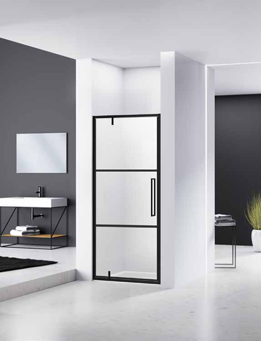 Van Rijn Products ST04 nisdeur raster voor 100cm nis met mat zwart beslag