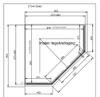 Bewonen Wilco douchecabine vijfhoek 90x90cm raster mat zwart