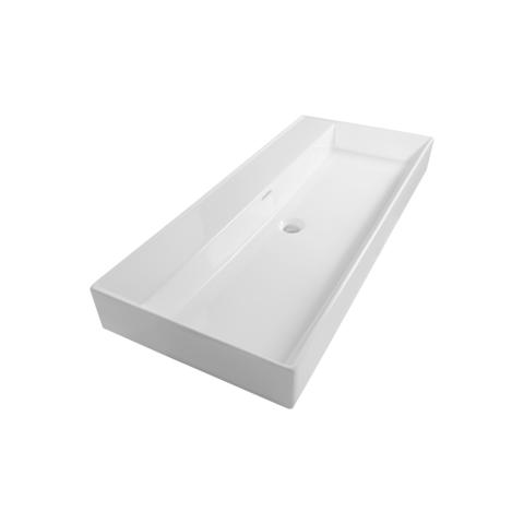 Bewonen wastafel Legend wit 100cm - zonder kraangat