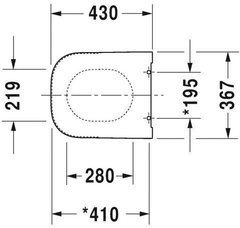 Duravit Happy D.2 closetzitting met softclose mat antraciet