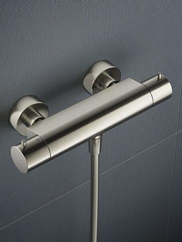 Hotbath Cobber glijstangset met thermostaat chroom