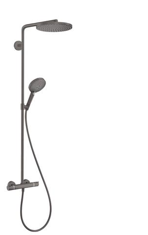 Hansgrohe Raindance Select powderrain 1jet showerpipe brushed black chrome
