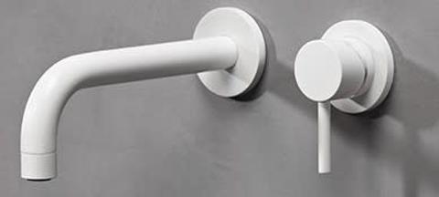 vtwonen baden Curve inbouw wastafelkraan 20cm mat wit
