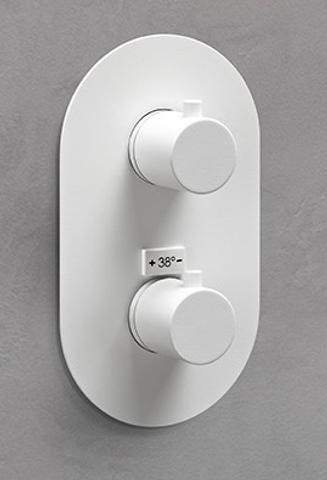 vtwonen baden Curve inbouwthermostaat 2-weg powder white