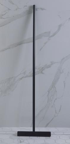 Luca Sanitair  luca vloerwisser met ophanghaakje mat zwart 32x125cm mat zwart