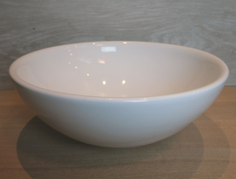 Luca Sanitair  opzetwastafel venere rond 41x41x16h keramiek wit glans