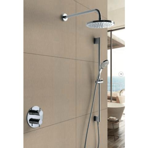 Hotbath IBS 2RA Get Together inbouw doucheset Laddy geborsteld nikkel - Staafhanddouche - hoofddouche 25cm - plafondbuis 30cm - wandsteun