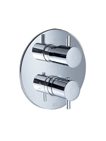 Hotbath IBS 2RA Get Together inbouw doucheset Laddy geborsteld nikkel - Ronde 3-standen handdouche - hoofddouche 25cm - plafondbuis 15cm - glijstang
